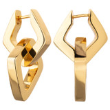 Oroton Nevaeh Double Hoop in Gold and Brass Based Metal With Precious Metal Plating for female