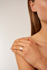 Oroton Bridget Circle Ring in Silver and Brass Based Metal With Precious Metal Plating for female