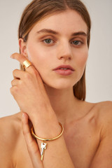 Oroton Bridget Bangle in Gold/Silver and Brass Based Metal With Precious Metal Plating for female
