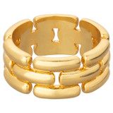 Oroton Kylo Ring in Worn Gold and Brass Based Metal With Precious Metal Plating for female