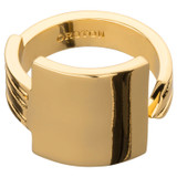 Oroton Bridget Square Ring in Gold and Brass Based Metal With Precious Metal Plating for female