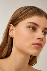 Oroton Lola Studs in Gold and Brass Based Metal With Precious Metal Plating for female