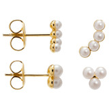 Oroton Lola Studs Set in Gold/Pearl and Brass Based Metal With Precious Metal Plating/Faux Pearl for female