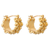 Oroton Olive Mini Hoops in Worn Gold and Brass Based Metal With Precious Metal Plating for female