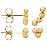 Oroton Lola Studs Set in Gold and Brass Based Metal With Precious Metal Plating for female