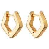 Oroton Nevaeh Huggies in Gold and Brass Based Metal With Precious Metal Plating for female
