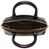 Oroton Muse Micro Griptop in Black and Two Tone Saffiano/Smooth Leather for female