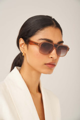 Oroton Perry Sunglasses in Biscuit and Acetate for female