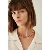 Oroton Bamboo Necklace in Gold and Brass Base With Precious Metal Plating for female