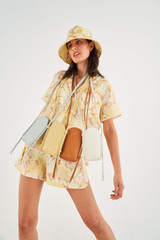 Oroton Nilson Phone Crossbody in Butter and Smooth Leather for female