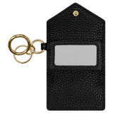 Oroton Anna Mini Envelope Keyring in Black and Pebble Leather for female
