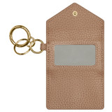 Oroton Anna Mini Envelope Keyring in Biscotti and Pebble Leather for female