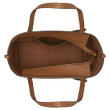Oroton Lilly Shopper Tote in Cognac and Pebble Leather for female