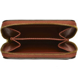 Oroton Solo Mini Zip Wallet in Light Rust and Nappa Leather for female