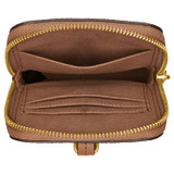 Oroton Dylan Phone Crossbody in Tan and Pebble Leather for female