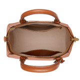 Oroton Inez Day Bag in Cognac and Shiny Soft Saffiano for female