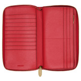 Oroton Inez Zip Book Wallet in Cherry and Shiny Soft Saffiano for female