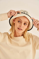 Oroton Kaia Bucket Hat in Natural and Non-Coated Canvas for female