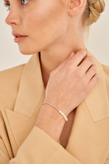 Oroton Corine Bracelet in Silver and Brass Base Metal With Precious Metal Plating/Pearl for female