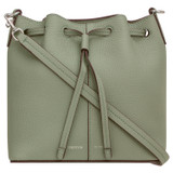 Oroton Lilly Small Bucket Bag in Shale Grey and Pebble Leather for female