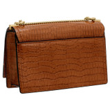 Oroton Mezzo Clutch in Cognac and Croc Effect Leather for female