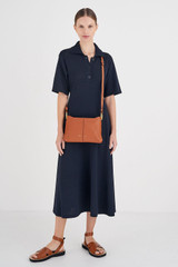 Oroton Tessa Crossbody in Toffee and Soft Pebble Leather for female