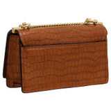 Oroton Mezzo Small Clutch in Cognac and Croc Effect Leather for female