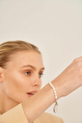 Oroton Sena Bracelet in Silver/Pearl and Brass Base Metal With Precious Metal Plating And Pearls for female