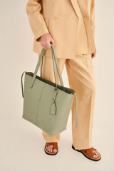 Oroton Lilly Shopper Tote in Shale Grey and Pebble Leather for female