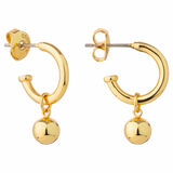 Oroton Liana Mini Hoop in Gold and Brass Base Metal With Precious Metal Plating for female