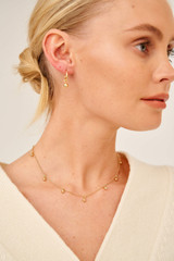 Oroton Liana Charm Necklace in Gold and Brass Base Metal With Precious Metal Plating for female