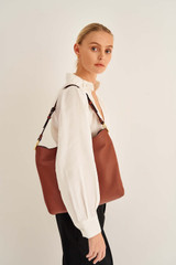 Oroton Tessa Large Hobo in Toffee and Soft Pebble Leather for female