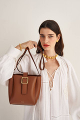 Oroton Ingrid Bucket in Brandy and Smooth Leather for female