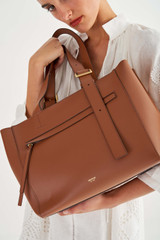 Oroton Ingrid Tote in Brandy and Smooth Leather for female