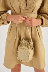 Oroton Kari Mini Bag in Blonde and Smooth Leather for female