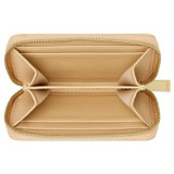 Oroton Kari Mini 7 Credit Card Zip Wallet in Mango and Smooth Leather for female