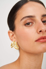 Oroton Marilla Clip-On Earrings in Worn Gold and Brass Base Metal for female