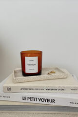 Oroton Oroton X Lumira Candle - Campfire in Amber and Hand Poured Soy Wax in Glass Jar for female