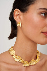 Oroton Marilla Earrings in Worn Gold and Brass Base Metal for female