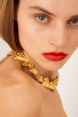 Oroton Marilla Necklace in Worn Gold and Brass Base Metal for female