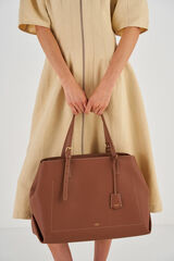 Oroton Margot Baby Bag And Mat in Whiskey and Pebble Leather for female