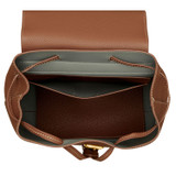 Oroton Margot Medium Backpack in Whiskey and Pebble Leather for female