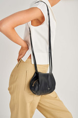 Oroton Nilson Crossbody in Black and Smooth Leather for female