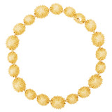 Oroton Ocean Limpet Necklace in Worn Gold and Brass Base Metal with Precious Metal Plating for female