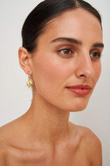 Oroton Marilla Hoops in Worn Gold and Brass Base Metal for female