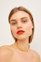 Oroton Ocean Limpet Choker in Worn Gold and Brass Base Metal with Precious Metal Plating for female