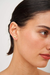 Oroton Marilla Studs in Worn Gold and Brass Base Metal for female