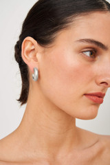 Oroton Reis Hoops in Worn Silver and Brass Base Metal with Precious Metal Plating for female