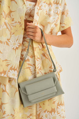 Oroton Wilde Small Day Bag in Gull Grey and Smooth Leather for female