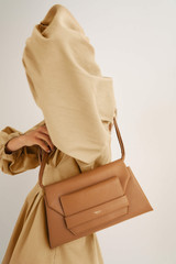 Oroton Wilde Day Bag in Dark Rye and Smooth Leather for female